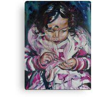 Portrait of Little Ellie Canvas Print