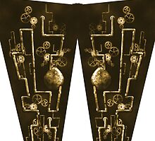 Industrial Steam Punk Bronze Leggings by Chello