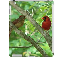 Northern Cardinal Pair - female and male iPad Case/Skin