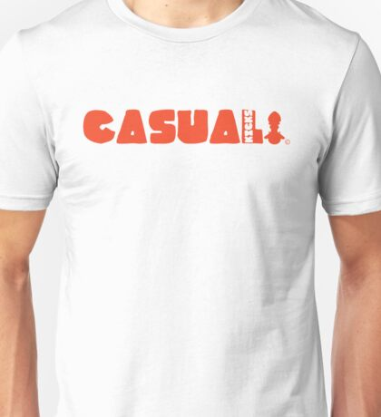 Casual kicks in Bold Red Unisex T-Shirt