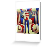 American musician ,standing Tall  Greeting Card