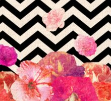 Chevron Flora II Sticker