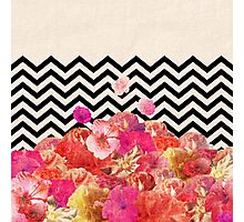 Chevron Flora II Photographic Print