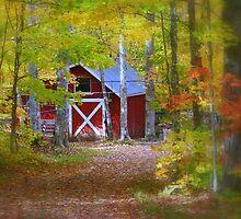 Barn at the Maple Sugar Camp by Gary Boudreau