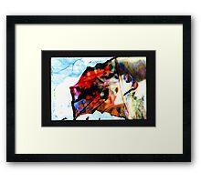 residual image, goober Framed Print