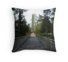 Bridge to Jamestown Island Throw Pillow