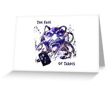 The Face Of Tardis Greeting Card