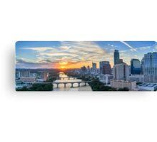 Austin Skyline Sunset Panorama Canvas Print
