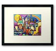 Riga Latvia - View from the West Bank Framed Print