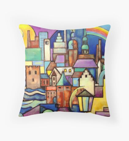 Riga Latvia - View from the West Bank Throw Pillow