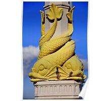 Base of Lamps at Queen's Bridge - Belfast Poster