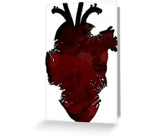 Rose Splatter Heart Greeting Card
