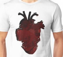 Rose Splatter Heart Unisex T-Shirt