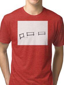 White silence Tri-blend T-Shirt