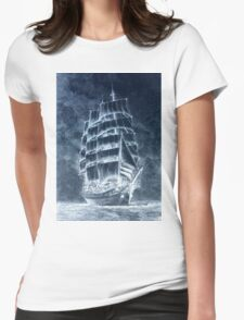 Ghost Ship Womens Fitted T-Shirt