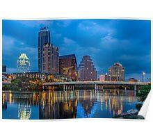 Austin skyline images Poster