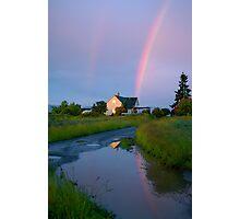 magic time, on the farm... Photographic Print