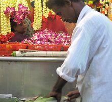 Wrapping Banana Leaves by Nupur Nag