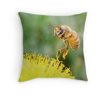Touching a Golden Meadow Throw Pillow