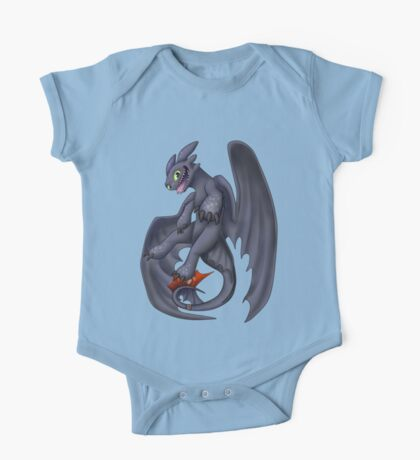 Playful Toothless One Piece - Short Sleeve