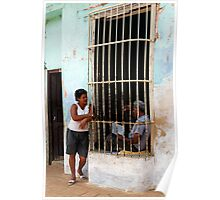 Couple chatting, Trinidad, Cuba Poster