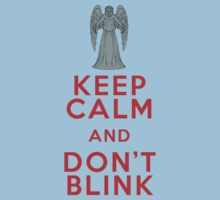 Keep Calm and Don't Blink - Weeping Angels - Doctor Who One Piece - Short Sleeve