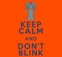 Keep Calm and Don't Blink - Weeping Angels - Doctor Who Kids Clothes