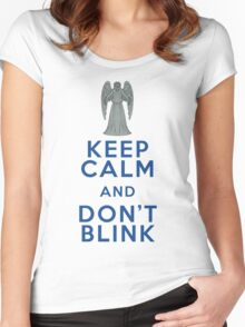 Keep Calm and Don't Blink - Weeping Angels - Doctor Who Women's Fitted Scoop T-Shirt