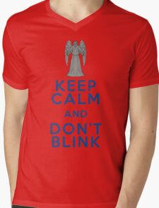 Keep Calm and Don't Blink - Weeping Angels - Doctor Who Mens V-Neck T-Shirt