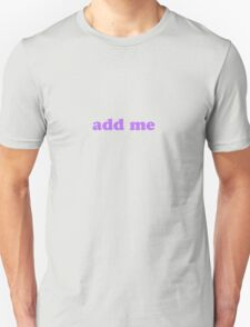 facebook add me  T-Shirt
