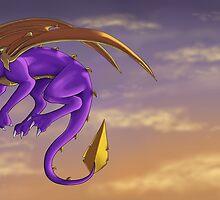 Spyro's Morning Flight by FULIK8