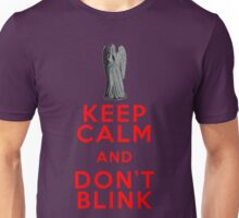 Keep Calm and Don't Blink - Weeping Angels - Doctor Who Unisex T-Shirt