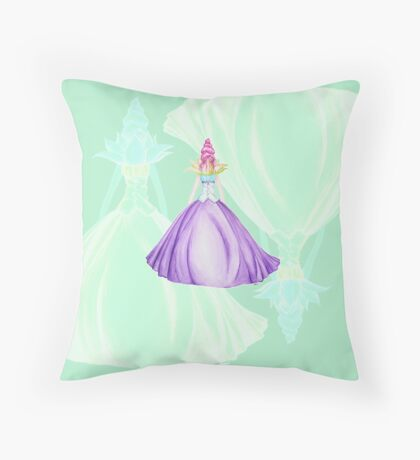 Waterlily, the princess Throw Pillow