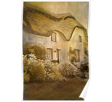 Cottage at Coverack Poster