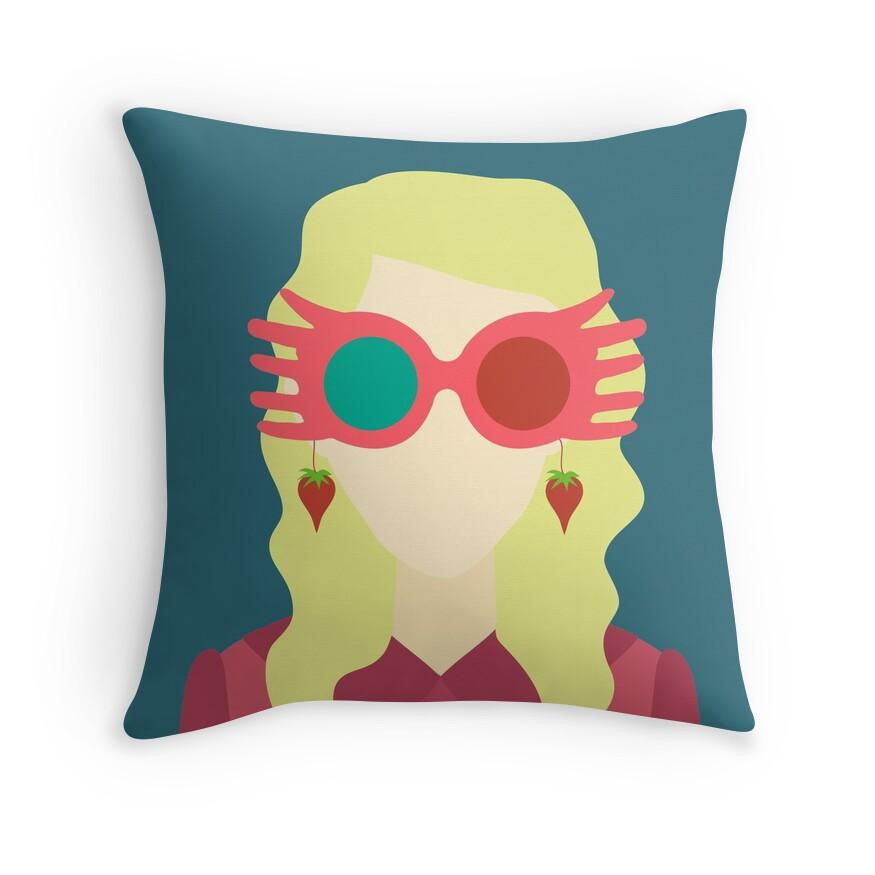 Luna Lovegood   Throw Pillow