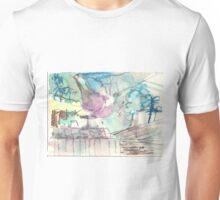 Hills behind fence(C1997) Unisex T-Shirt