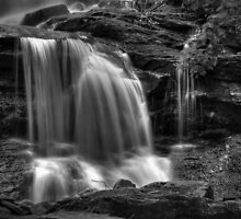 Tuscarora Falls, detail #2 by Aaron Campbell
