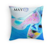 may shoes Throw Pillow