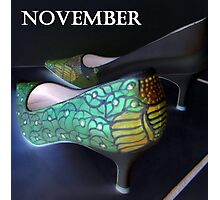 november shoes Photographic Print
