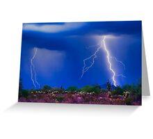 Colorful Sonoran Desert Storm Greeting Card