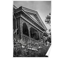 Haunted Mansion-B&W Poster
