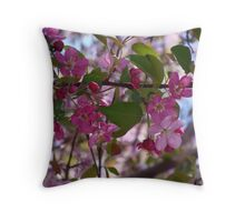 Pretty Pink Blossoms Throw Pillow