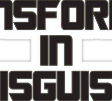 Transformer In Disguise fun design Sticker