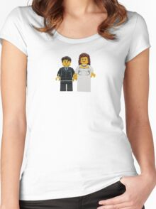 LEGO Bride and Groom Women's Fitted Scoop T-Shirt