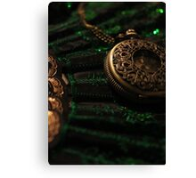 Pocket Watch and Fan Canvas Print