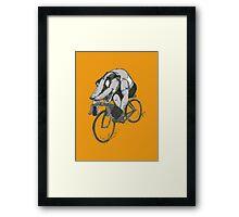 Bikin' Badger Framed Print