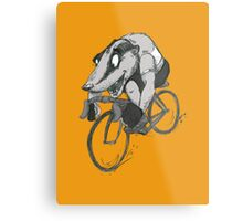 Bikin' Badger Metal Print