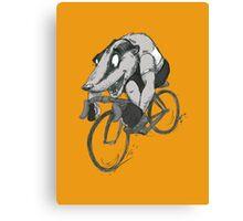 Bikin' Badger Canvas Print