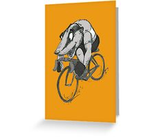 Bikin' Badger Greeting Card