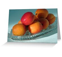 Dish of Delicious Apricots Greeting Card